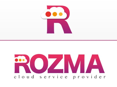 Rozma logo logo design graphic company service vector logo cloud logo cloud