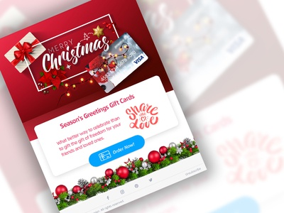 Gift card email shot happy red gift box love share design greetingcard greeting christmas new year campaign marketing email card gift card
