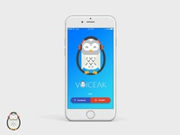 Voiceak Mobile App - login screen