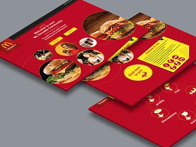 McDonald's Website digital web