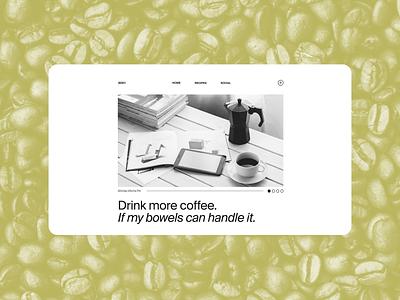 Coffee Dribbble Rebound brutalist coffee landingpage rebound