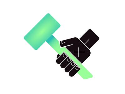 Work Ethic - Rebound ethic fist hammer icon rebound