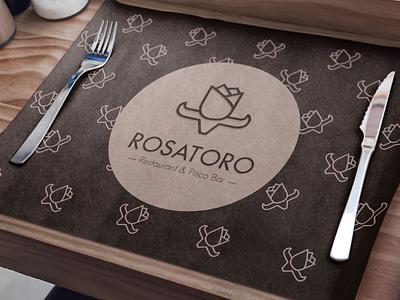Branding | Rosatoro restarurant food eat draw rosatoro logo logodesign brand branding newjersey peruvian