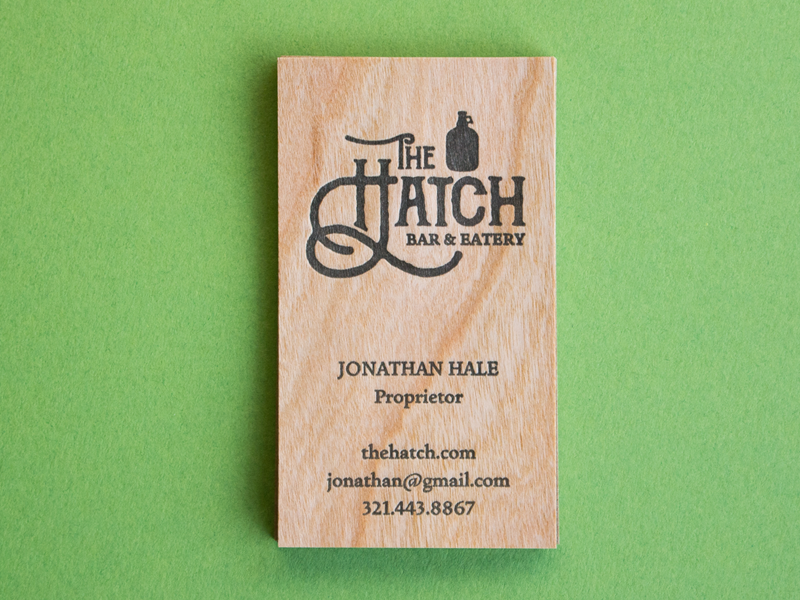Letterpress Business Cards on Wood Experiment by Rise and Shine ...