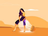 Light in the Desert minimal illustrator illustration