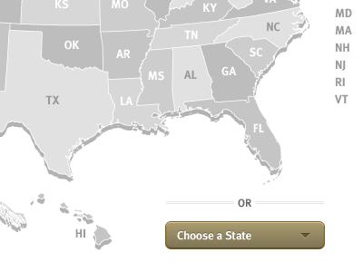 States map united states meta sans