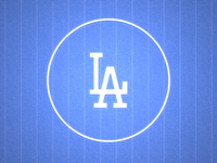 Dodgers iPad Lock Screen Wallpaper