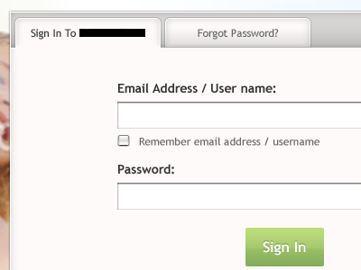 Sign in to [REDACTED] forms tabs chrome gray blue green