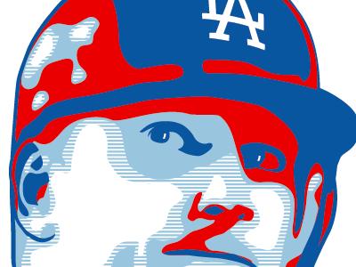 AJ Ellis illustration baseball