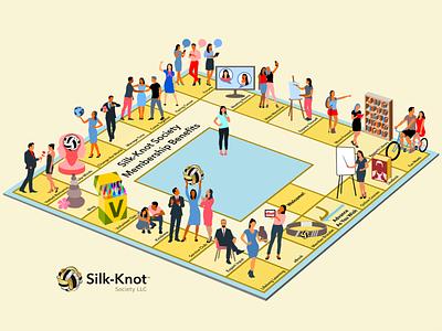 Member benefits pictograph activities leisure pictogram membership members design illustration vector