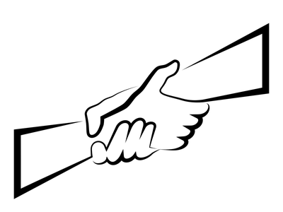 interlocked arms cooperation hands arms unity illustration vector
