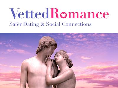 Vetted Romance romance logo branding dating illustration vector