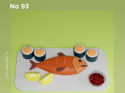 Suchi Dinner | Food animation blender modeling maya 3d c4d food app sushi dinner party food