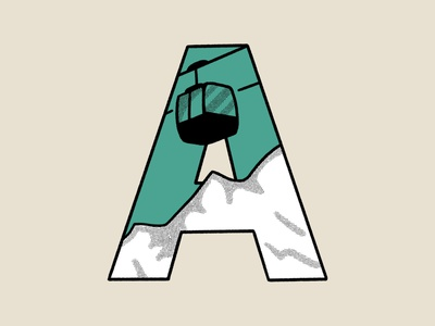 Daily Logo Challenge Day 4: Single Letter Logo alpine mountain typography alphabet rebound adventure outdoor logo branding character procreate illustration flat design