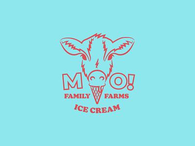Daily Logo Challenge Day 27: Ice Cream Logo graphic design packaging cow logo animal logo animal ice cream cow icon vector typography branding logo illustration flat design