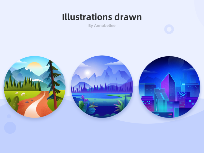 Illustrations drawn flat design illustration