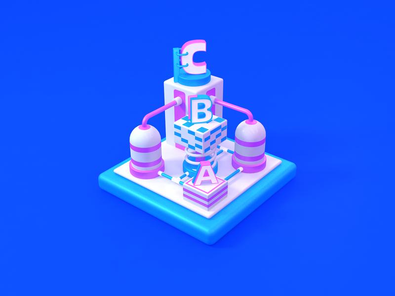 3D ICON  --  系统化 branding c4dtoa logo illustration c4dfordesigners c4d