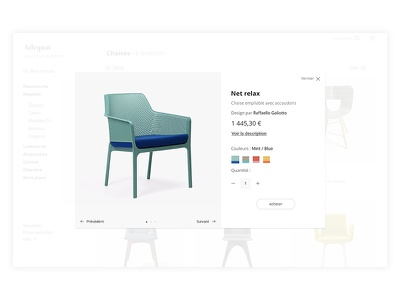 Adequat-Quickview webdesign uxdesign uidesign trendly quickview product minimal ecommerce design concept checkout category
