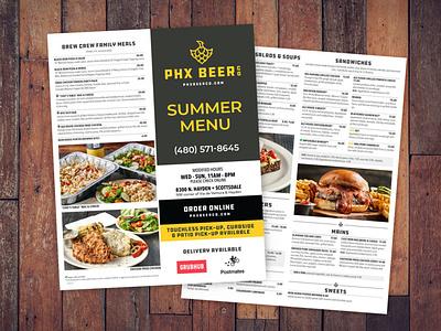 PHX 2 menu bar