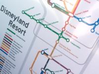 Disneyland Resort transit-style map