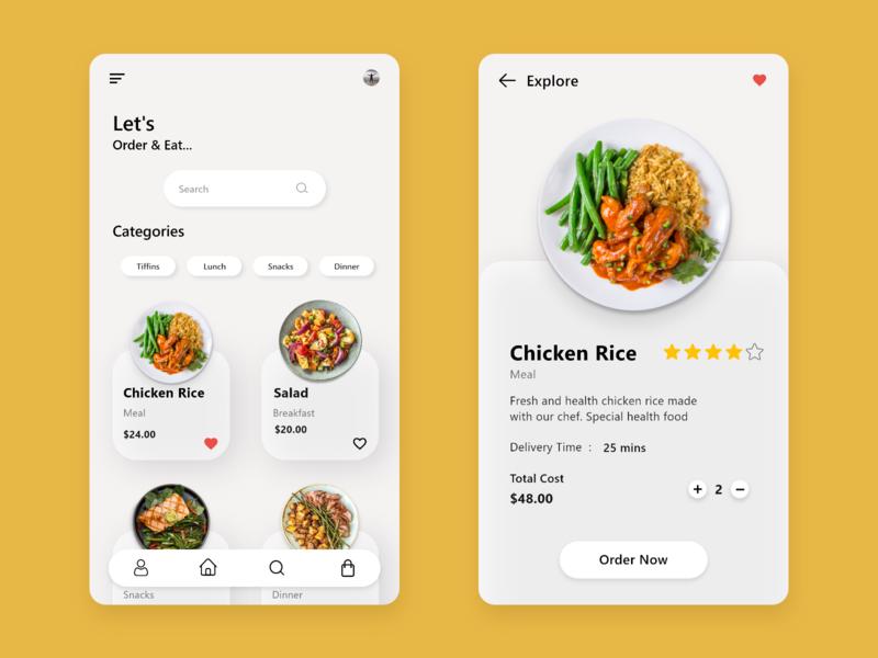 Food Delivery App mobile app food food delivery app ux design food app typography visual design ui design