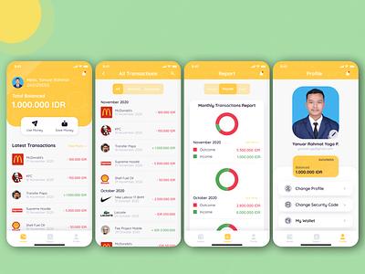 Cuan Saver App personalwallet uiuxindonesia ux uiuxdesign ui mobile ui mobile app design mobile app wallet finance