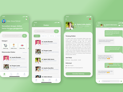 Tanya Dokter App doctor app doctor doctor appointment doctorapp ux uiuxdesign ui mobile ui mobile app design mobile app