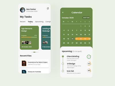 Task Management App task management design ui ux mobile app