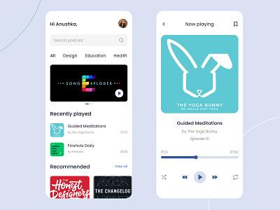 Podcast App design figma ui ux mobile app podcast
