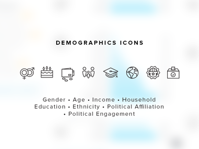 Demographics Icons for Measure