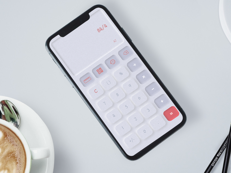 Day 004 - Calculator / Daily UI Challenge calculator app calculator design calculator ui calculation calculator daily 2d uidesign ui  ux mobile app ui design 100 days of ui daily 100 challenge daily ui dailyui 004
