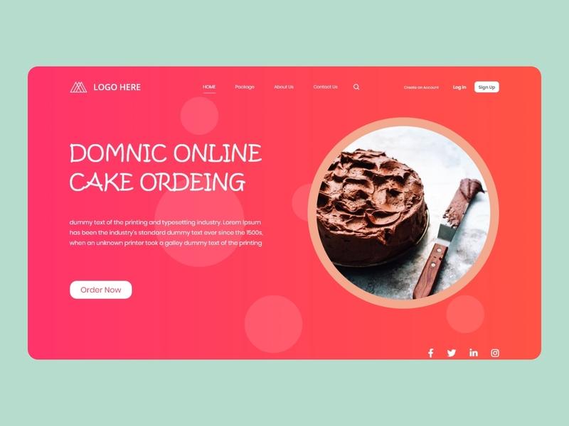 Food Landing Page xd landingpage landing webdesign website trend wix cake uiuxdesigner uiuxdesign food dribbble designs web design ui design uiux ux ui uiui
