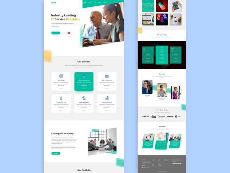 Agency and Business Landing Page UIUX-Design uikits wow designs design simple designer web template behance landingpage style job trend dribbble webui agency website uidesign uiux business agency