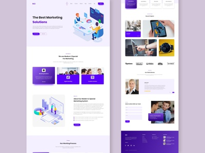Marketing Agency Website uikits marketing agency digital businessui new ui design business branding style color landingpage website trend illustraion agency logo wix uidesign uiux agency marketing