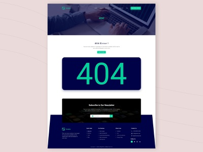 404 Page UIUX Design 404page trendy design best design best shot uxui ux templatedesign business app design agencypage designs uikits website color style illustration logo template landingpage uiux