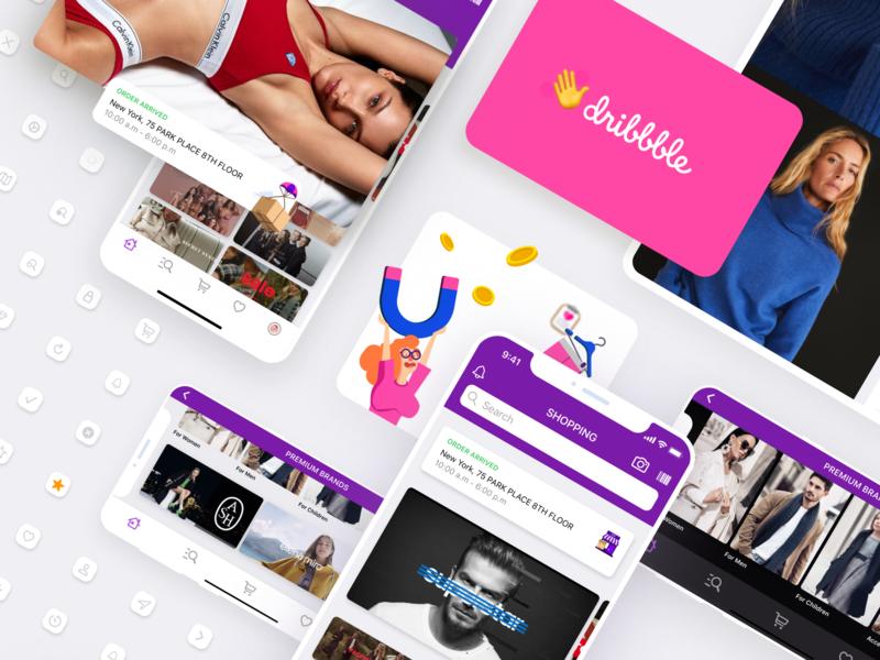 App Design For Online Shopping. Hello Dribble! ios app uxui darkmode lanscape shop sale dribble ios apple shopping app system shopping ux illustraion icon app ui