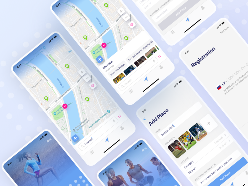 Ployster. App for team games and playgrounds search teams user app design location interface gaming team work events registration ui ux teamwork map play game team ios app