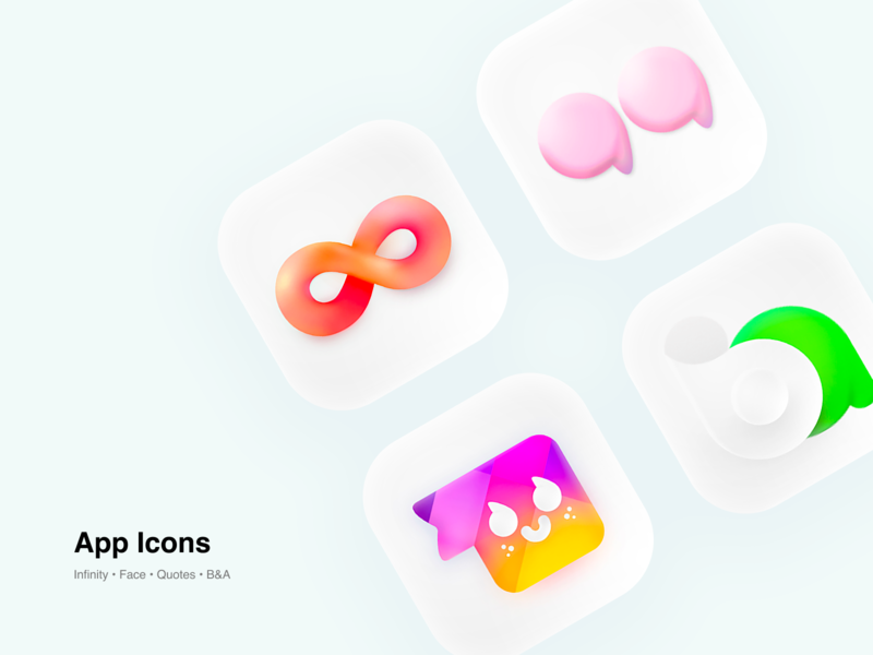 App Icons appstore apple icons icon design design ios logo branding a letter a letter logo b letter logo quotes face infinity icon set icon app ui