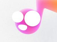 Face Music App Icon icon logo apple design illustraion mobile pink funny face note music app ui