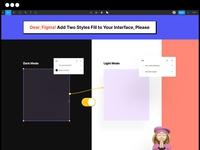 I need it in Figma. Two styles fill interfaces please useful interface ux app less styles codeok dark mode figma style code fill