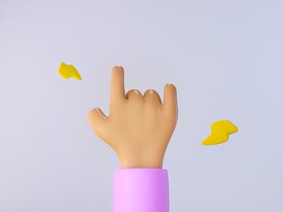 Free 3D Cartoon Hand freebie blender download modelling shapes blender3d cute pink ui rock modeling cool fingers blender 3d model 3dhand 3d art hand freebies free freebie