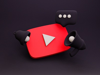YouTube Logo 3D. Free Blender Model subscribe youtube channel platform brand logo modelling share sound comment bell 3d art free play youtube banner youtube logo youtube blender3d blender freebies freebie