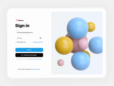 Sign in UI. Spheres animation. Liquid blue 3d epam abstract art abstraction abstract ballons ballon circle blender ui abstarct liquid animation liquidmotion liquid spheres 3d animation sign up sign in