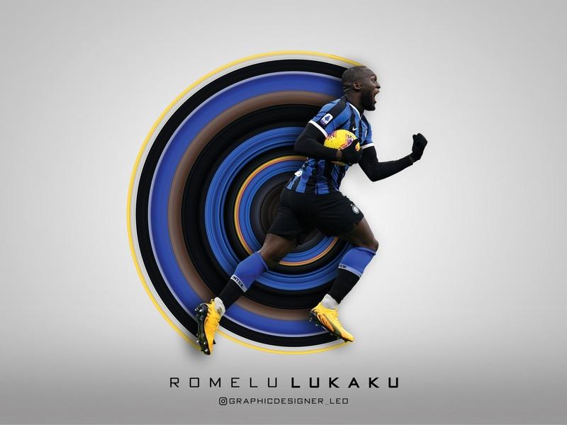 Romelu LUKAKU Circular Stretch Effect effects illustrator artwork colorful art photo circle manipulation photoshop icon brand branding illustration graphic design