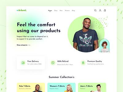 arkent landing page website designing design ui ux