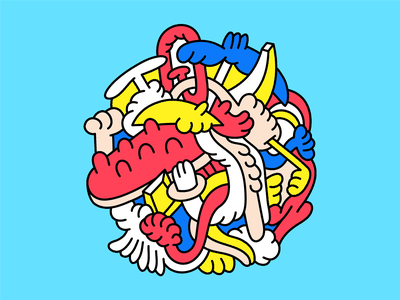 ABSTRACT VOL. 1 character art design vector artwork vector colorful modern editorial vector art japan illustration editorial illustration