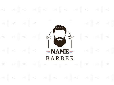 Barbershop Logotype Concept logomark logodesign man cut branding barber logo barbershop barber logotype design
