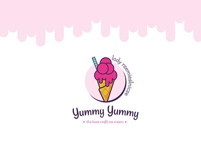 Ice Cream Logotype Concept logodesign ice craftwork branding logomark design logotype ice cream icecream