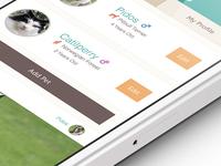 add pet app screen