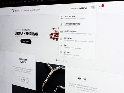 e-commerce default page ui ux shop commerce design interface page home default white grey menu